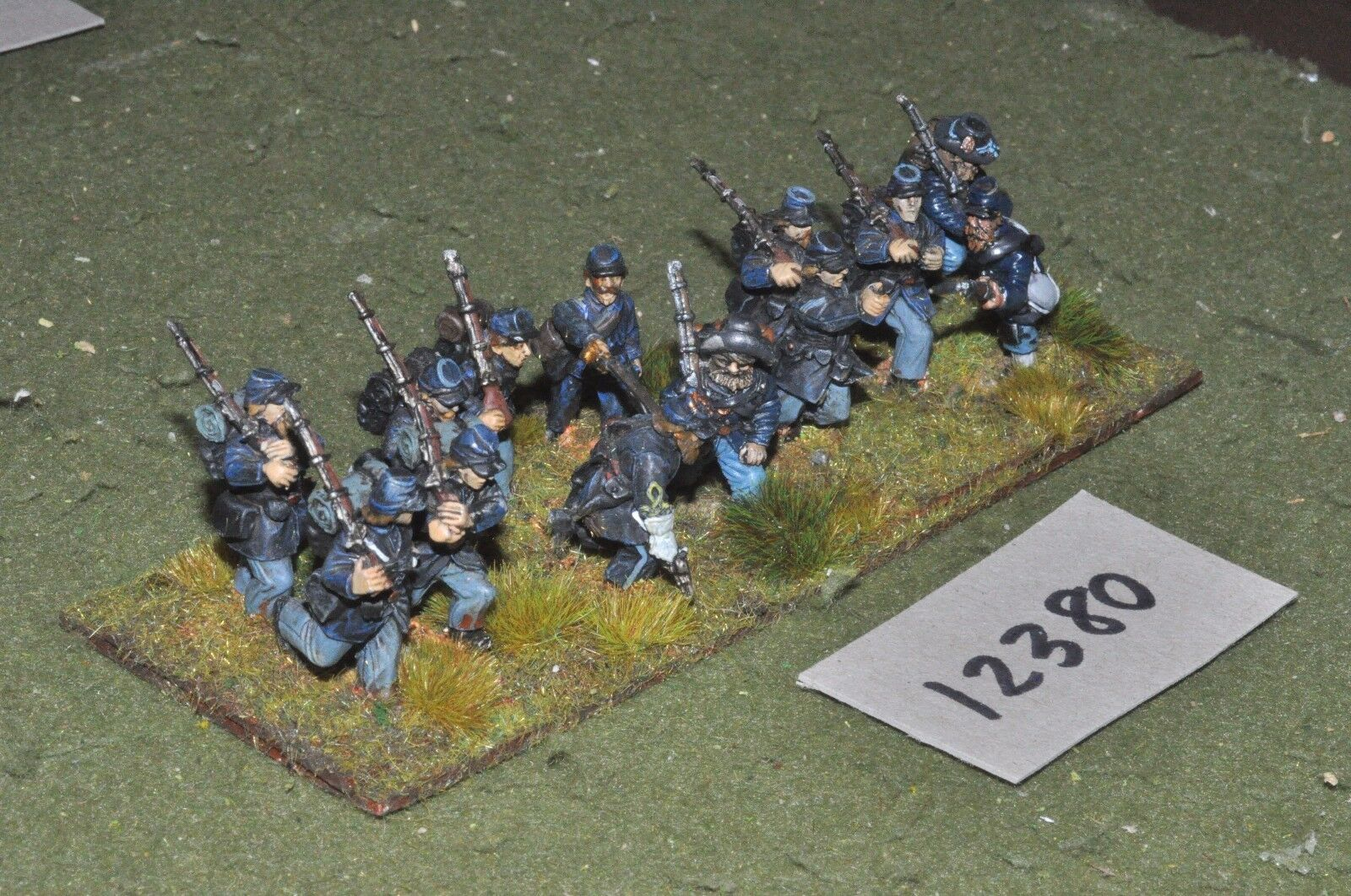 25mm ACW   union - american civil war infantry 13 figures - inf (12380)
