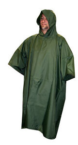 Rain-Poncho-Olive-Drab-Camo-Nylon-Ripstop-With-Carry-Bag-by-5-Star-Gear