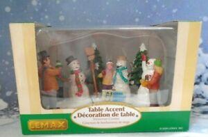 Lemax Village Collection Annual Snowman Contest Miniature Figures Retired 2006