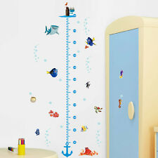 Finding Nemo Height Chart Measure Wall Stickers Decal for Kid Baby Nursery Room