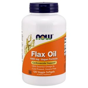NOW-Foods-Flax-Oil-Cardiovascular-Support-1000-mg-120-Veg-Softgels