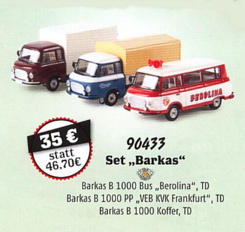 Set  Barkas , 35 Jahre Brekina, H0 Auto Auto Auto Modell 1 87, 90433 c6f5db