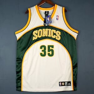 ef52b34f7712 Image is loading 100-Authentic-Kevin-Durant-Adidas-Seattle-Sonics-Jersey-