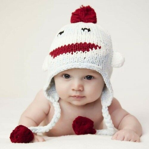 Huggalugs Adorable Hats Hand Knit Beanie
