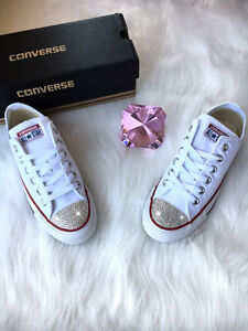 7dfb9bfdd526 Image is loading New-Bling-Converse-With-Swarovski-Crystals