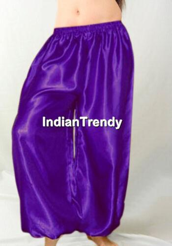 Dance Pants Girl Aladdin Harem Tribal Satin Costume Yoga Belly Women Halloween Unp4P4