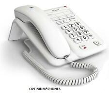 BT DECOR 2100 CORDED TELEPHONE HOME PHONE WHITE