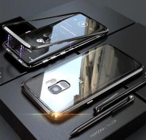 360-Magnet-Case-Fuer-Samsung-Galaxy-S8-S9-Plus-Huelle-Glas-Metall-Tasche