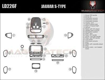Fits Jaguar X-Type 2002-2008 Manual Trans NO Navigation Wood Dash Trim Kit