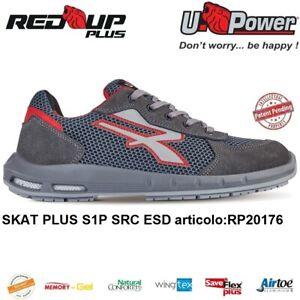UPOWER-SCARPE-ANTINFORTUNISTICA-SKAT-PLUS-S1P-SRC-ESD-U-POWER-RED-UP-PLUS
