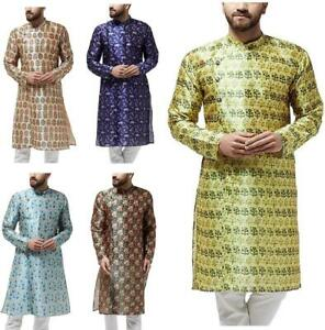 Festival-Men-Dupion-Silk-Kurta-Pajama-Ethnic-Party-Wear-Bollywood-Dress-Pyjama