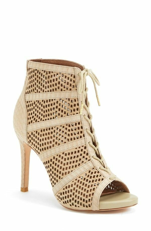 091e639031f7c New 415 JOIE Shari Lace Up Bootie Heels Heels Heels Shooties EU 38 ...