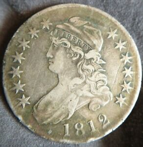 1812-Capped-Bust-Half-Dollar-50c-Extremely-Fine-XF-EF-Details-Minor-Scratches