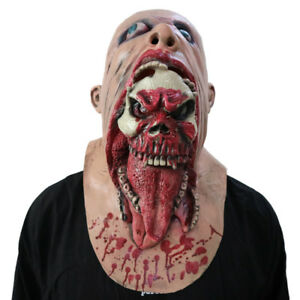 Bloody-Zombie-Mask-Melting-Face-Adult-Latex-Costume-Walking-Dead-Halloween-Scary
