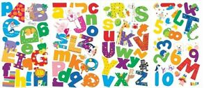 Image Is Loading ALPHABET LAZOO LETTERS 72 Wall Decals School Numbers