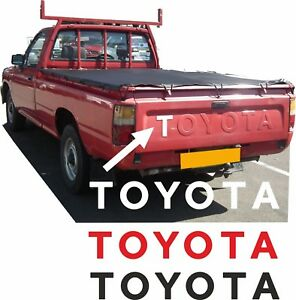 Toyota-Hilux-pick-up-1988-2005-Raised-pressed-letter-Overlay-Decals-Stickers
