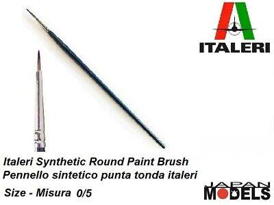 Italeri Pennello Sintetico Tondo 0/5 - Round Brush W/brown Tip Per Modellismo Regalo Ideale Per Tutte Le Occasioni