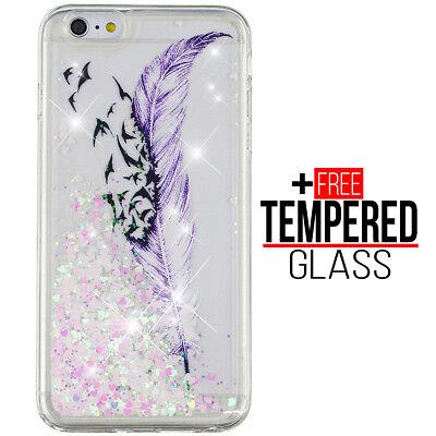 Per iPhone 7 8 Liquido Glitter Bling Design Case Cover Silicone Gel Antiurto | eBay