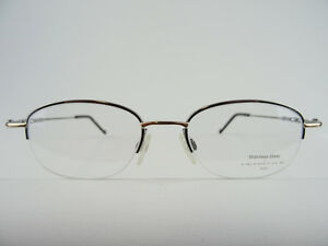 a468cfc98c80 Image is loading Glasses-Frames-Neostyle-Boston -63-Silver-Golden-Teilrandlos-