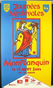 XIV-eme-Journees-medievales-de-Monflanquin-Aout-2004-affiche-fauconnerie