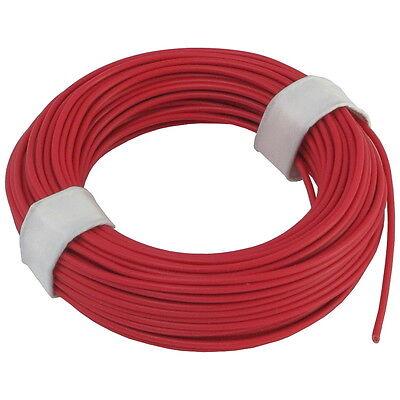 Ring 5m Kupferlitze 2 x 0,14 mm² isoliert Kabel Litze Schaltlitze braun 860269