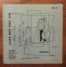 "WNEW Jazz Off the Air Vol 1 LP vinyl 10"" Esoteric Records Roy Eldridge Mel Torme"