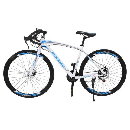Commuters Aluminum Full Suspension Road Bike 21 Speed Disc Brakes 700c