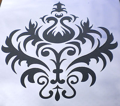 high detail airbrush stencil damask 15 pattern FREE UK POSTAGE
