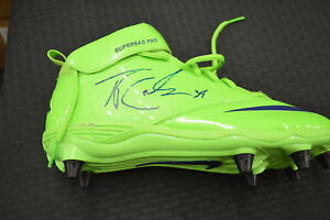 purchase cheap b2ab9 a4a22 Details about Thomas Rawls Game Used Cleats Seahawks Green Color Rush  Autographed JSA Pair