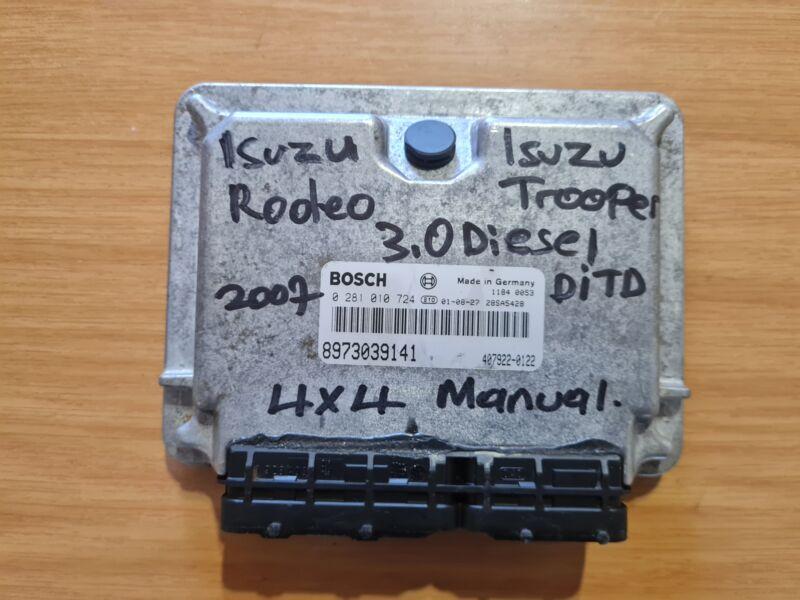 Isuzu Rodeo 3.0D DITD 4X4 2007 Bosch Manual ECU part# 8973039141