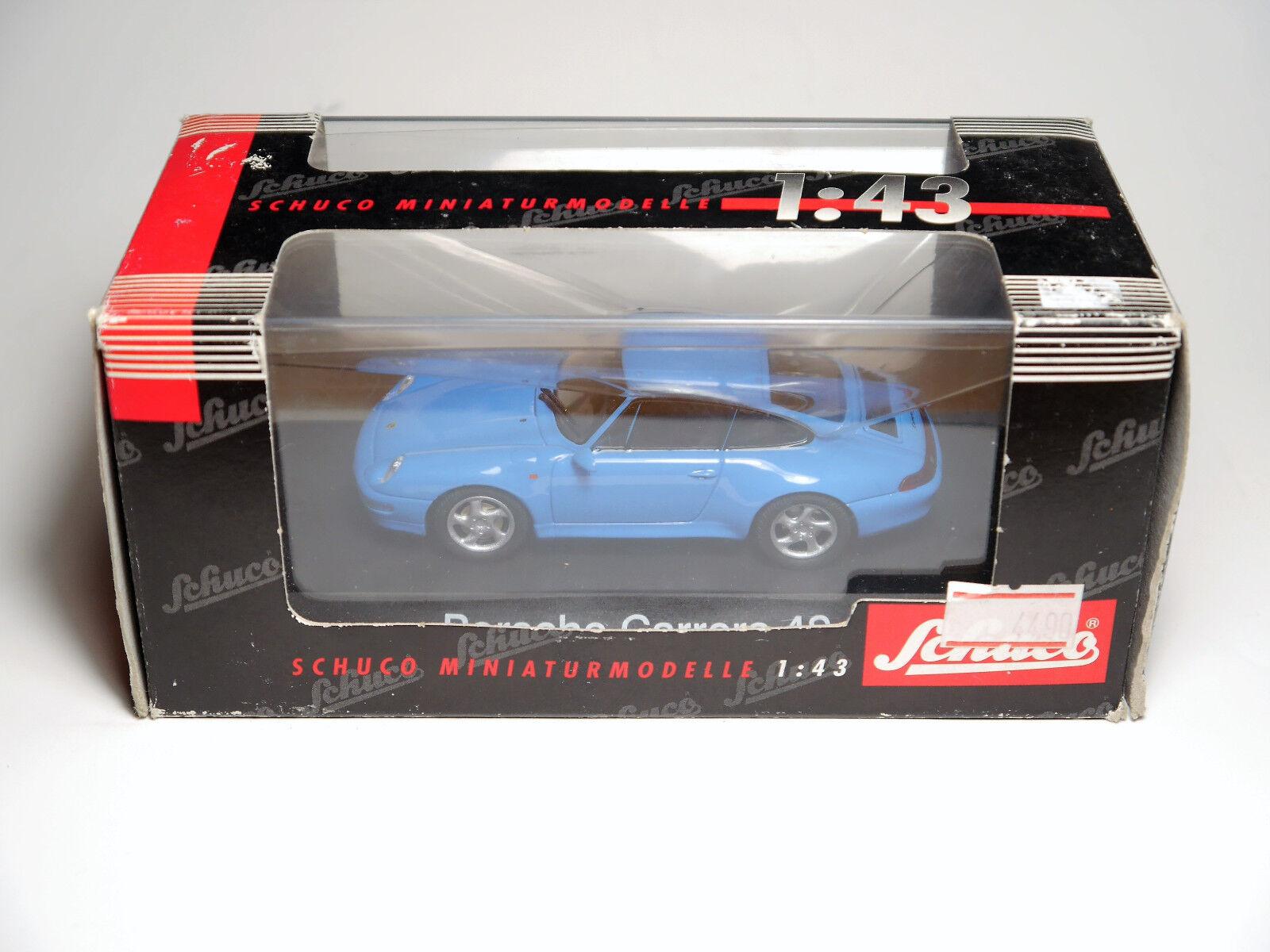 Porsche 911 (993) Carrera Coupe 4s Pastel bluee, Schuco  43 Boxed