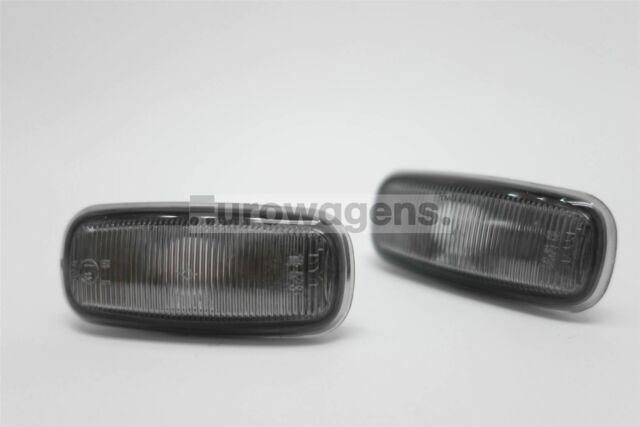 Audi A6 97-05 Smoked Side Indicators Repeaters Pair Set Driver Passenger