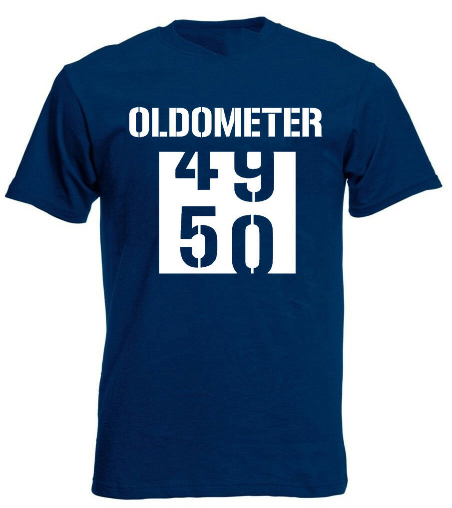 Oldometer 50 T Shirt Funny Joke Mens 50th Birthday Gifts Presents Ideas For Him Free Shipping Unisex Casual Tshirt Top
