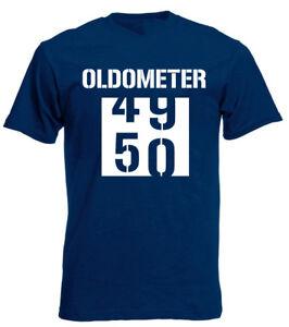 Image Is Loading Oldometer 50 T Shirt Funny Joke Mens 50th
