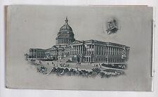 1900 era WILLIAM McKINLEY & CAPITOL IMAGES - ALUMINUM POLITICAL NOTE PAPER PAD