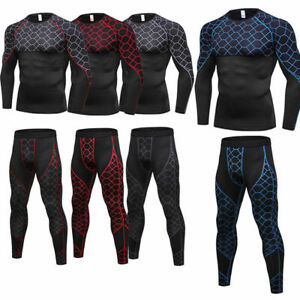 Men-039-s-Compression-Base-layer-Athletic-Tights-Workout-Gym-Training-Shirts-Dri-fit