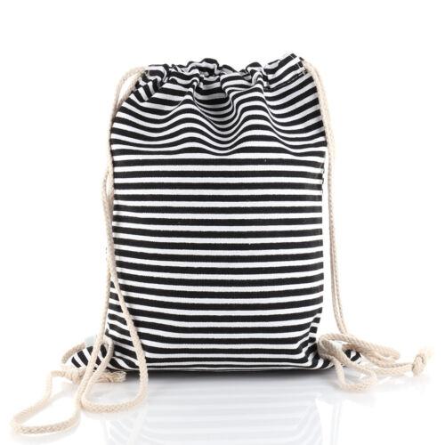Stern Canvas Rucksack Beutel Tasche Turnbeutel Jogging Gym Bag Backpack Anker
