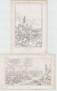 2-Umriss-Radierungen-Fr-Franck-nach-P-P-Rubens-Triumph-des-Bacchus-Kermesse