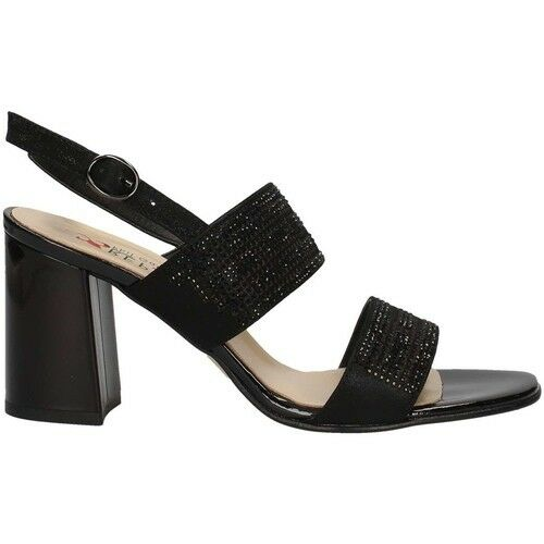 Brillant Scarpe Donna La Repo Shoes Sandali Tacco Medio 48510 Nero Estate 2018 Sconto 50%