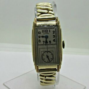 Vintage Olympic Swiss G. Sell Co. 17J Cal. 14 Gold Filled and Stainless Steel Do