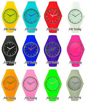 Men's Gents Ladies Women's Children's Kid's Silicon/Rubber Wrist Watch