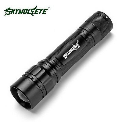 Blacklight 15000LM 3-Mode XM-L T6 LED Zoomable Flashlight Torch Focus Lamp 18650