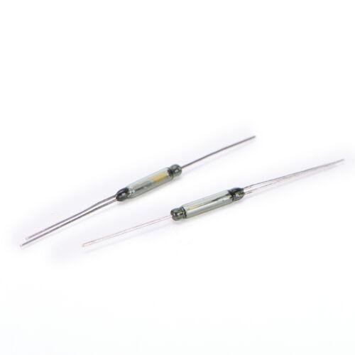 10P Reed Schalter Magnetschalter Induktionsschalter N C SPDT 2,5X14 MM ^ O N
