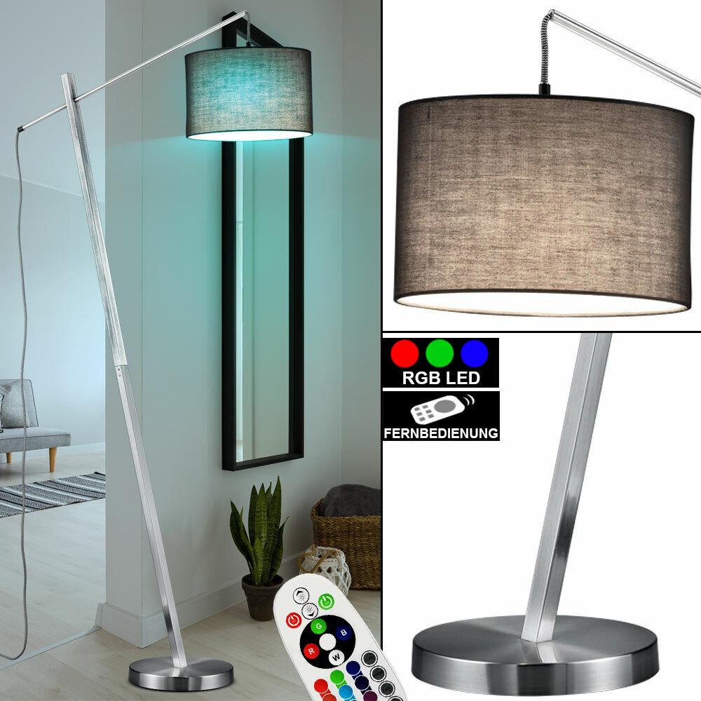 RGB LED Textil Decken Fluter Wohn Zimmer Steh Leuchte DIMMER Lampe Fernbedienung