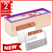 Zytj Silicone Soap Molds Kit 42oz Flexible Rectangular Loaf and 2 Scrapers