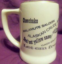 Vintage ALASKA Souvenir Mug Stein ~ Alaska is for Lovers ~ Cheechako ~ Malmute