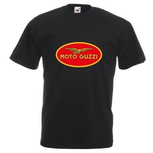 Moto Guzzi T-Shirt Biker Moto Rider Divers Tailles Et Couleurs