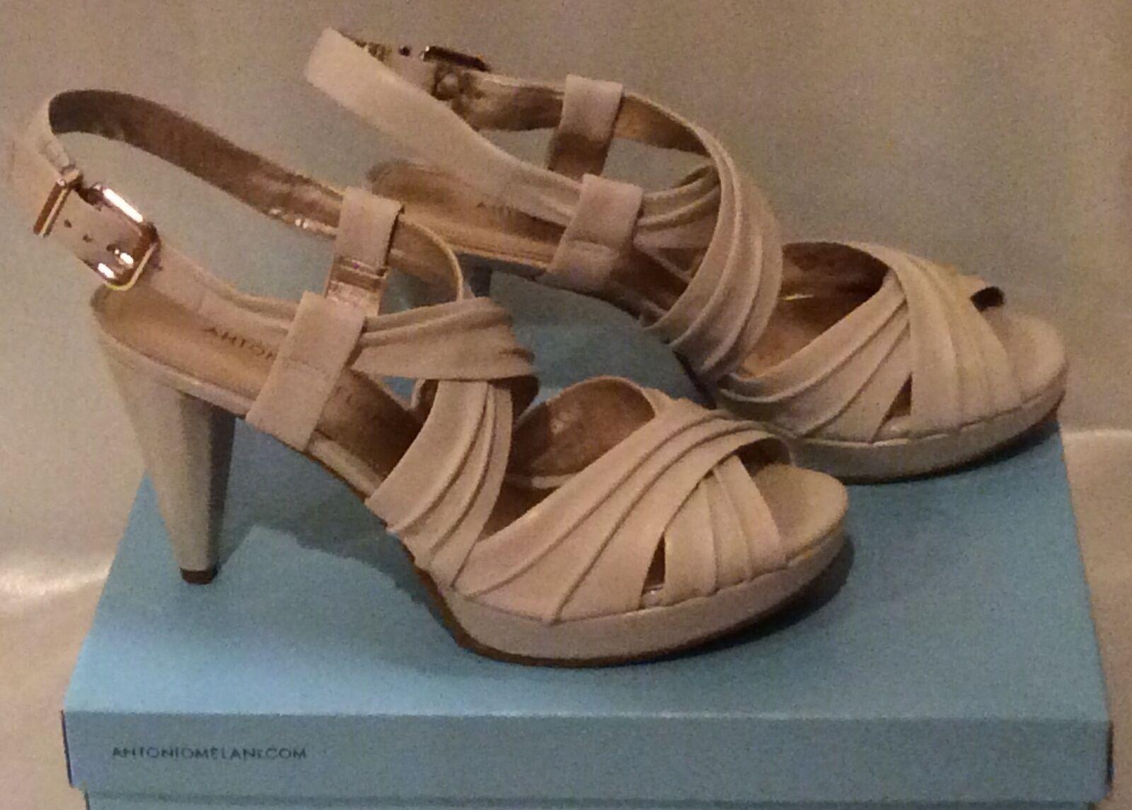 Antonio Melani, Holden Sandals chaussures, Beige   Rice  3.5  heel 7.5 M, New in Box