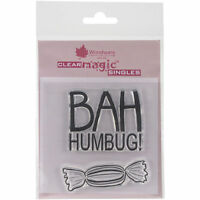 Woodware Clear Magic Singles Rubber Stamps Bah Humbug -