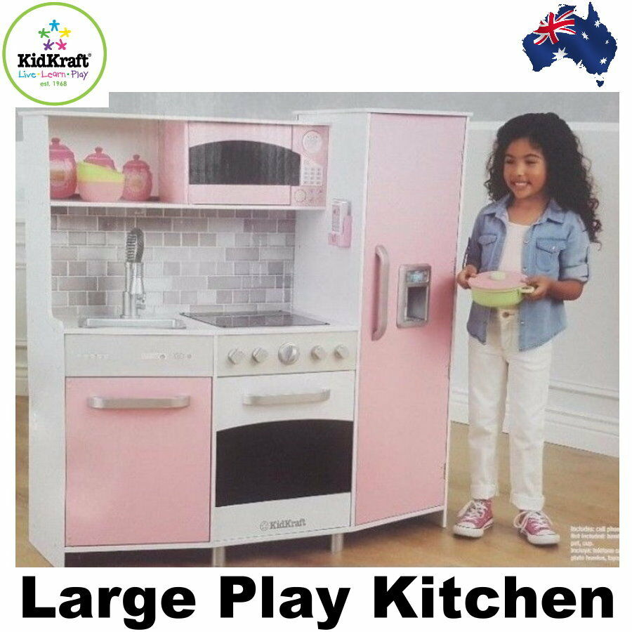 Cook Up Some Creativity With Our Clic Kidkraft Large Pastel Kitchen This Kid Sized Favorite Features Bright Colors Interactive Details Like Liance